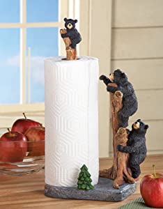 Collections Etc Northwoods Bears Paper Towel Holder