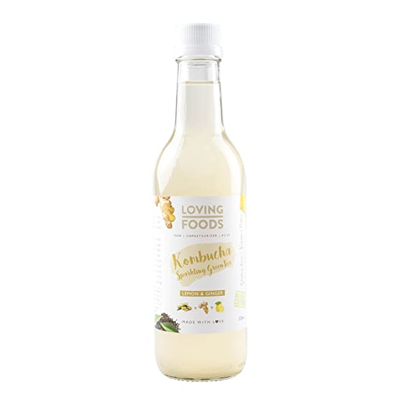 Loving Foods Orgánico Limón & Jengibre Kombucha (330ml ...