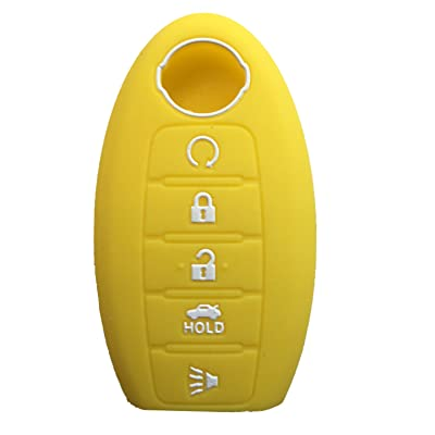 RPKEY Silicone Keyless Entry Remote Control Key Fob Cover Case Protector Fit for(Yellow) 285E3-3TP5A KR5S180144014: Automotive