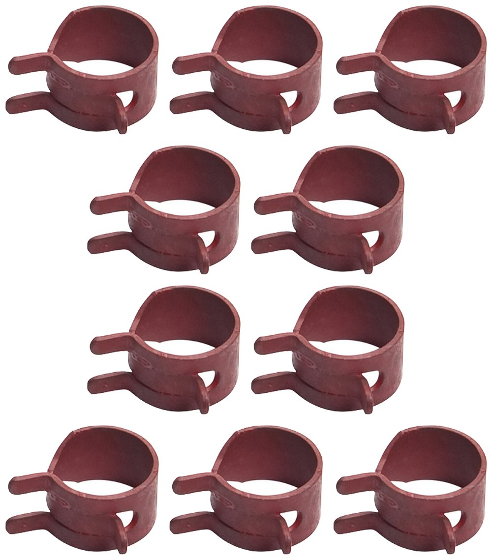 Oregon (10 Pack) 02-040 Hose Clamp for 1/4-inch and 3/16-inch Fuel Line with an Inner Diameter of .455-inches