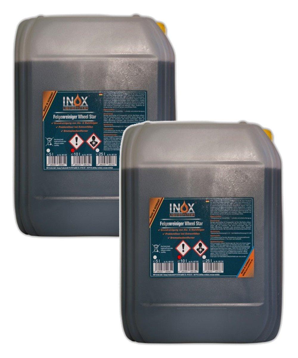 Inox Wheel Star Produit nettoyant pour roues, 2x 10l–Acide haltiges Concentré pour forte verschmutzungen 2x 10l-Acide haltiges Concentré pour forte verschmutzungen