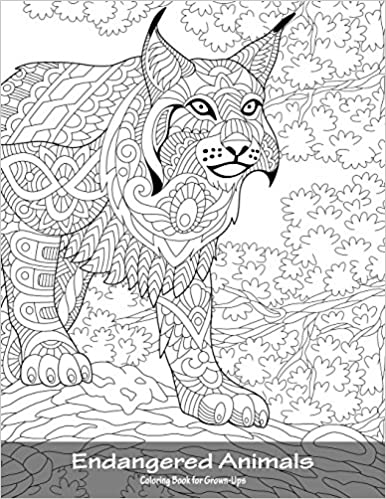 Amazon.com: Endangered Animals Coloring Book for Grown-Ups 1 ...