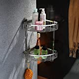 Stainless Steel Bathroom Shelf Wall Shower Bathroom Towel Rack Bathroom Towel Rack Shelf Triangular Corner