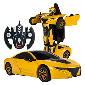 RASTAR - Coche teledirigido transformable en Robot 1:14, Color Amarillo (ColorBaby 85002