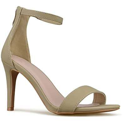 Women's Strappy Kitten High Heel - Formal Wedding Party Simple Classic Pump