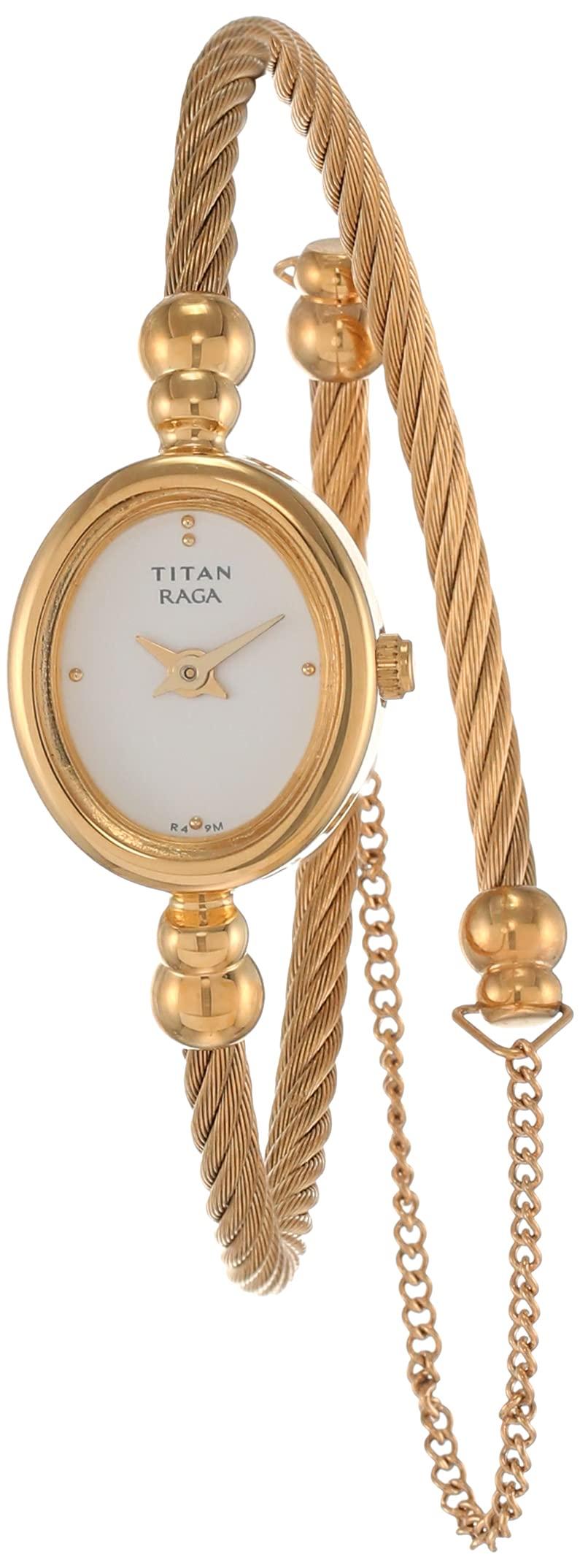 Titan Raga Women's Analog Quartz Watch | Bangle Jewelry Style Wristwatch