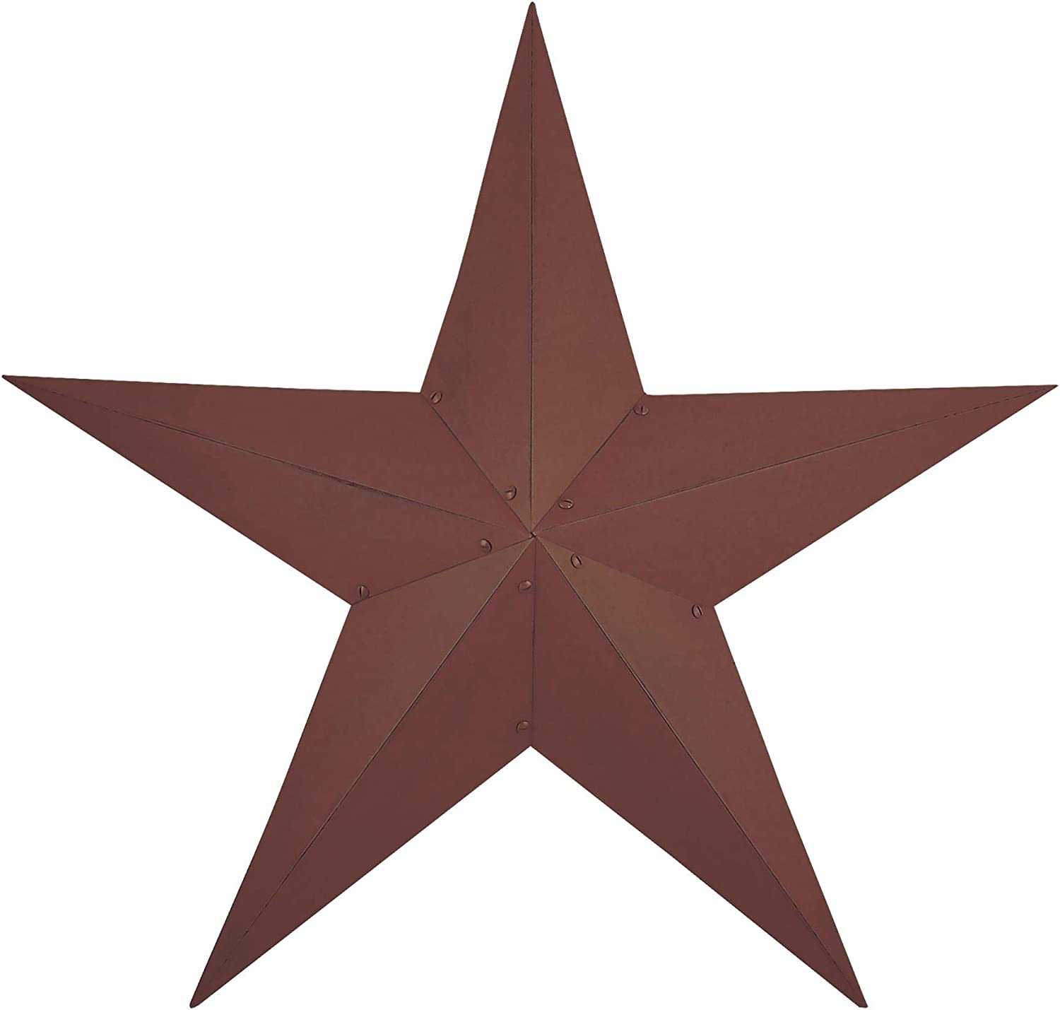 Hearthside Collection Burgundy CWI Gifts Barn Star, 36""