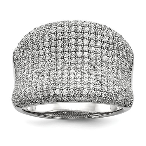 925 Sterling Silver Cubic Zirconia Cz Band Ring Size 8.00 Fine Jewelry For Women Gift Set -