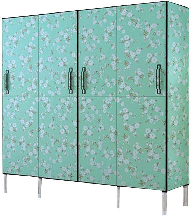 Armario sin cremallera, puerta plegable, tubo de acero, refuerzo de grasa, plástico, armario, armario de almacenaje. large 4: Amazon.es: Hogar