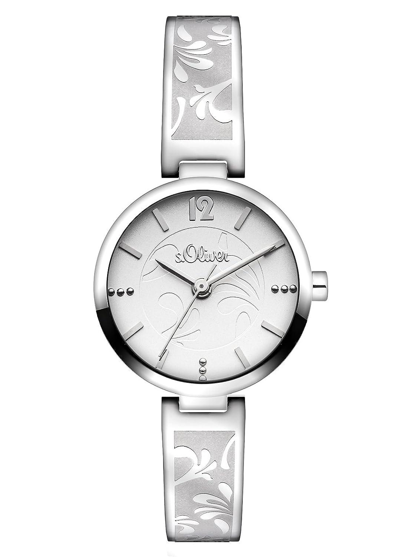 s.Oliver Damen-Armbanduhr XS Analog Quarz Edelstahl SO-2763-MQ