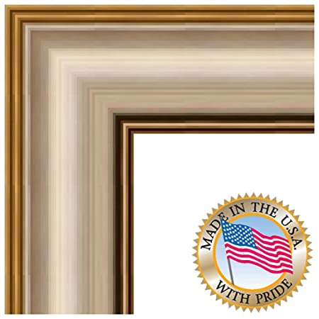10x13 / 10 x 13 Picture Frame Silver with Gold Accents .. 2.5\'\' wide ...