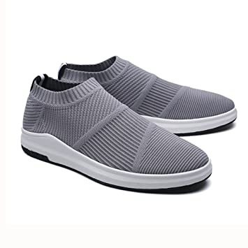 d5d6f7bfd9e3ee YIXINY Schuhe Herrenschuhe Lässig Wild Laufschuhe Turnschuhe Atmungsaktiv  Nicht Gebunden ( Farbe   Grau