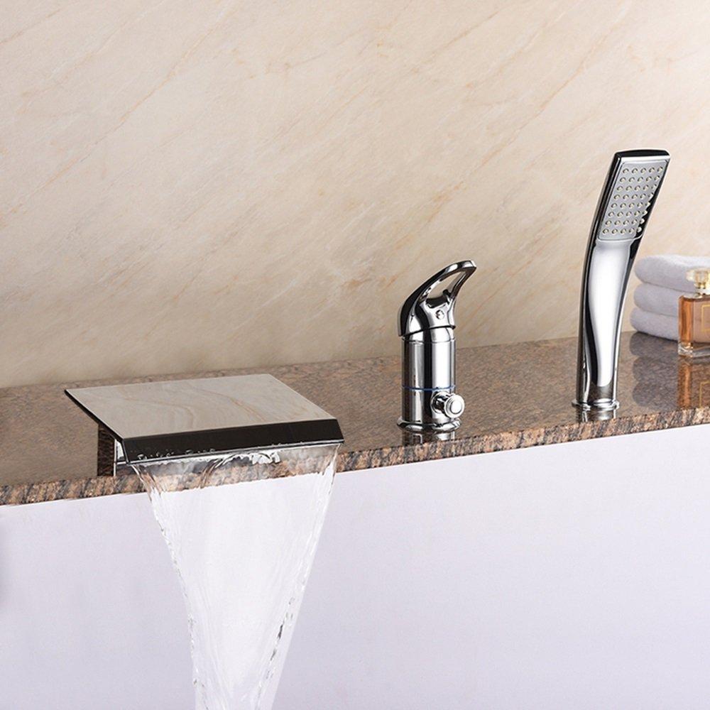 バスタブ蛇口銅グランド滝の浴槽の蛇口ファッションプレミアム蛇口セットCUIYAN   B07DHBMN4Q