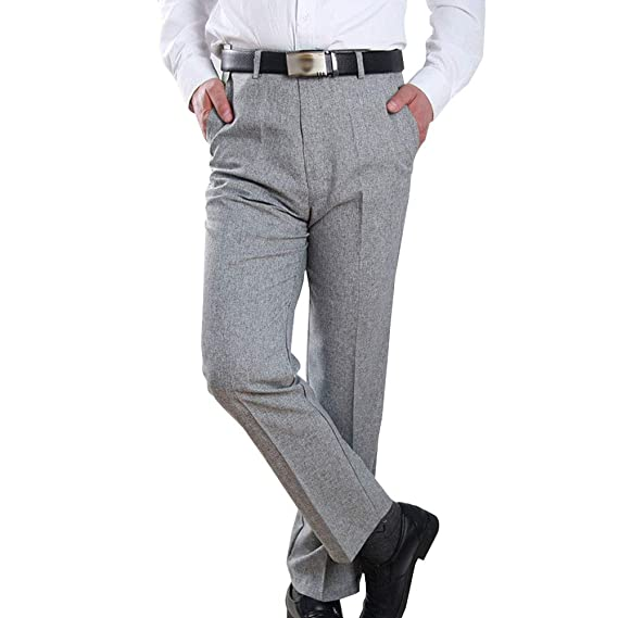 ZEVONDA Pantalones de Traje para Hombres - Pantalones de Negocios ...