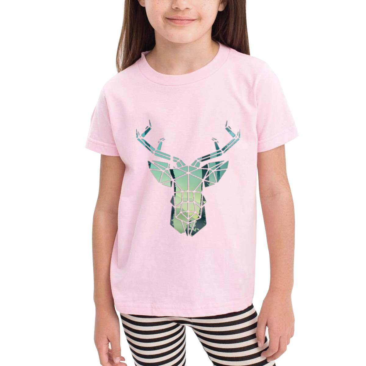Onlybabycare Geometric Deer 100/% Cotton Toddler Baby Boys Girls Kids Short Sleeve T Shirt Top Tee Clothes 2-6 T