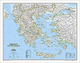 Buy Greece Classic, Tubed: Wall Maps Countries & Regions ...
