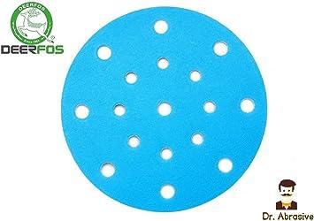 Disco de lija húmedo o seco (301) película impermeable DEERFOS 6 ...