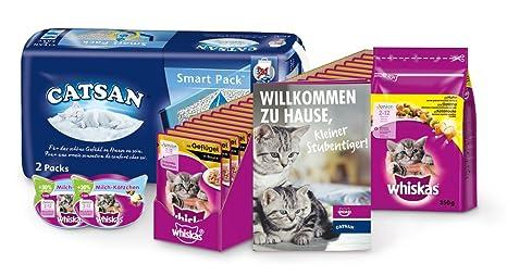 Whiskas & catsan Kitten Pack para Junior de Gatos con Forro en húmedo, trockenfutter,