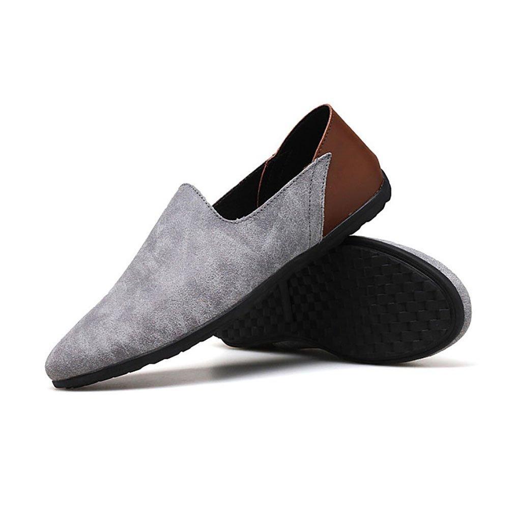 Herrenschuhe Casual Leder Oxfords Schuhe Kleid Loafers Schuhe Geschäft Flat Driving Schuhes (YAN),A,38