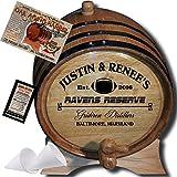 Personalized American Oak Aging Barrel - Design 065: Fan Series - Football (5 Liter)