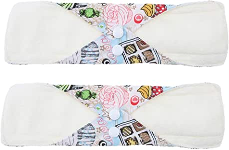 2 Unids Almohadilla Menstrual Lavable Compresas Reutilizables de ...