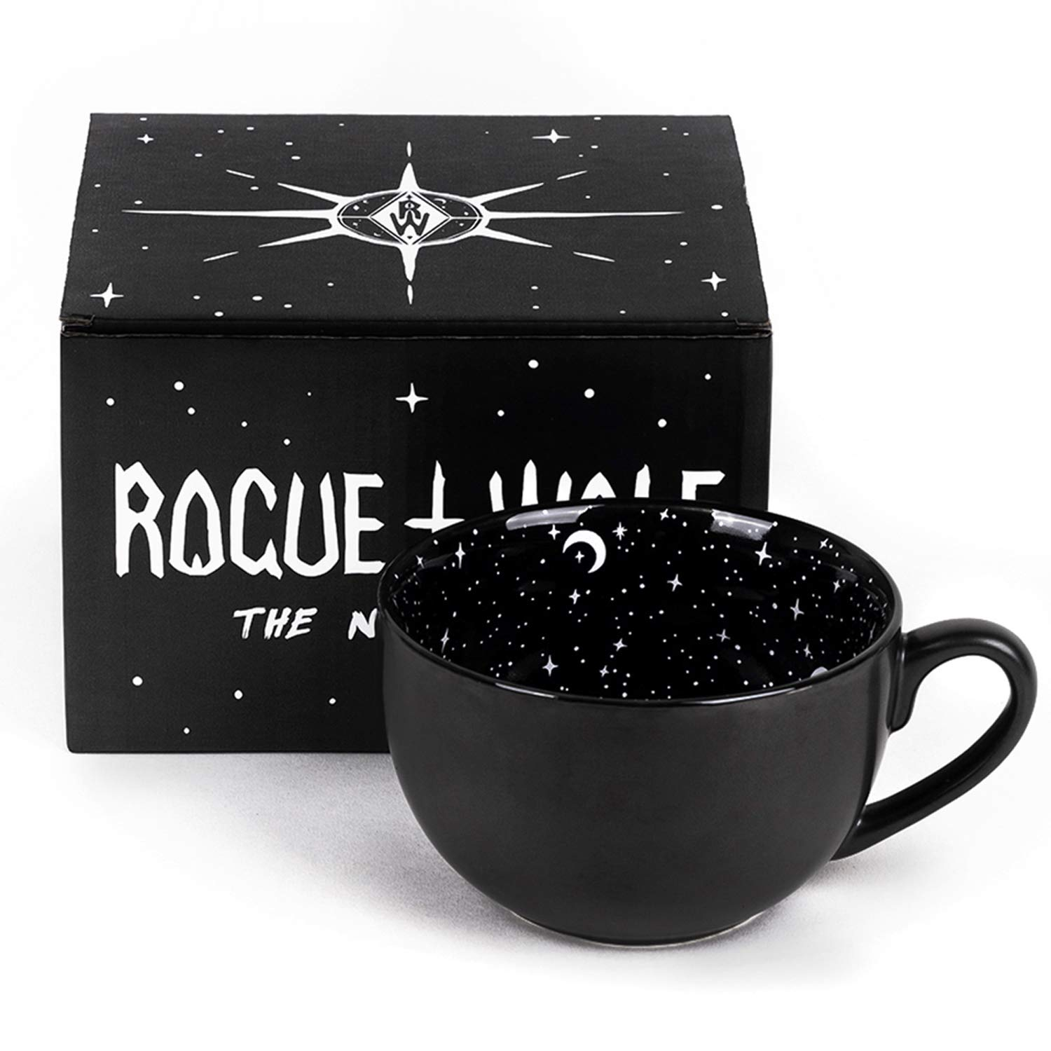 Midnight Coffee Large Mug in Gift Box By Rogue + Wolf Cute Mugs For Women Unique Witch Halloween Gifts Novelty Tea Cup Goth Decor - 17.6oz 500ml Porcelain by Rogue + Wolf (Image #9)