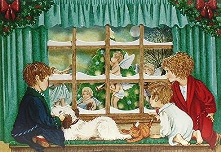 Negro cara de oveja en la nieve tarjetas navideñas ayuda 32 ...