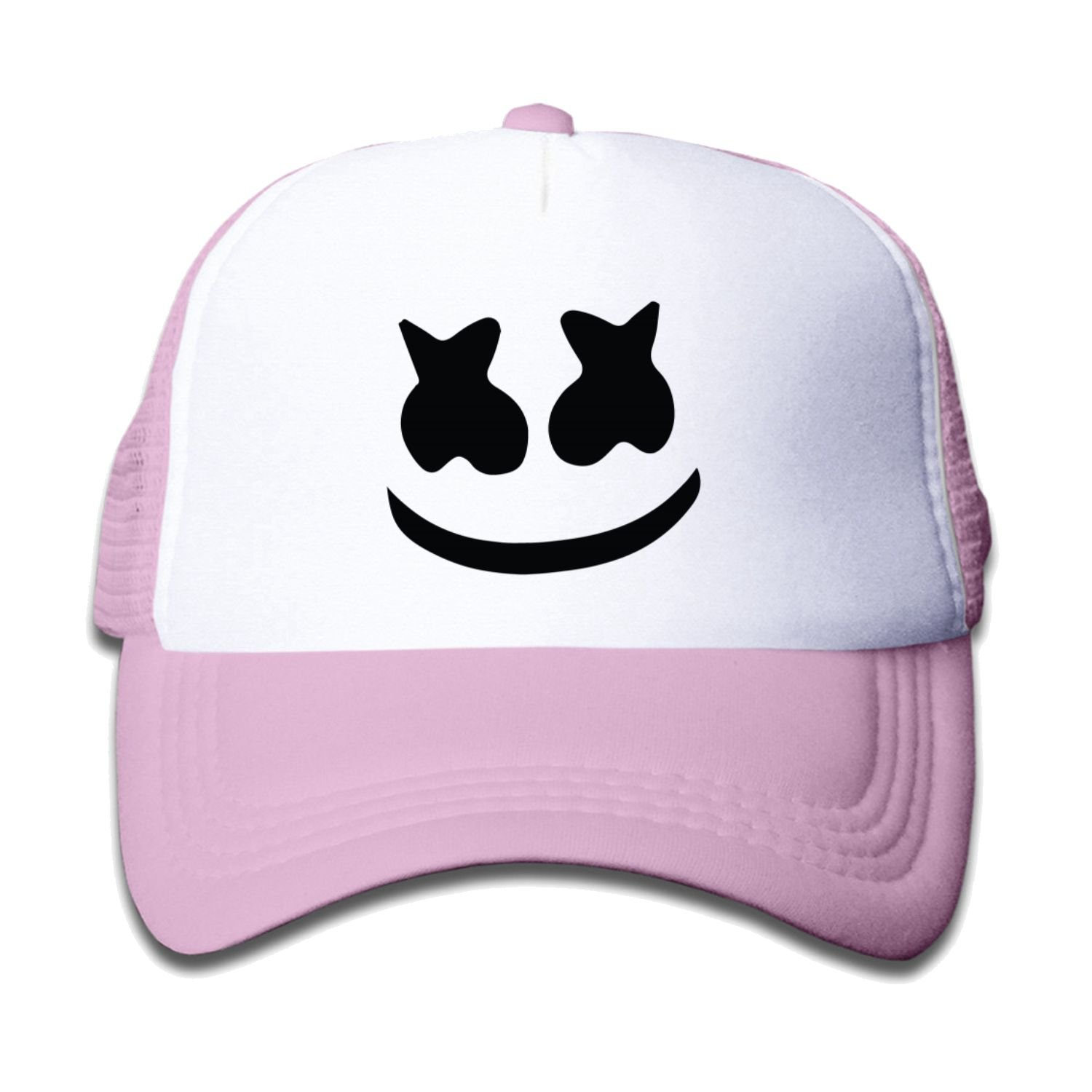 XVA-51FCAP Teen Youth Marshmello face Baseball Hat Mesh Back Trucker Cool (3 Colors)
