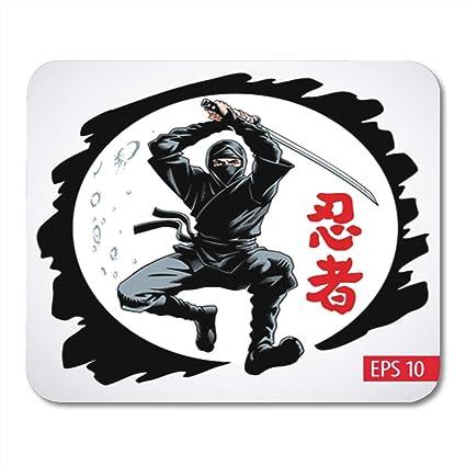 Amazon.com : Semtomn Gaming Mouse Pad Ninja Warrior Jumping ...