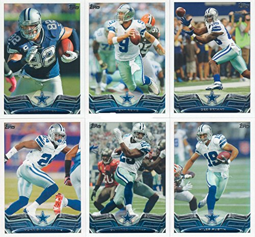 Dallas Cowboys 2013 Topps NFL Football Complete Regular Issue 14 Card Team Set Including Demarcus Ware, Tony Romo, Joseph Randle, Anthony Spencer, Dez Bryant, Demarco Murray, Gavin Escobar, Travis Frederick, Miles Austin, Brandon Carr, Morris Claiborne, Terrance Williams, Jason Witten and Cowboys Team Leaders Card.