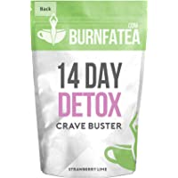 Burnfatea 14 Day Crave Buster detox, Strawberry Lime  -14 Pouches/Pack