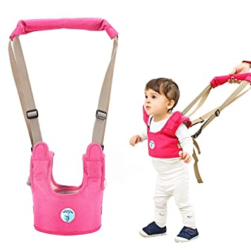 Breathable Stand Up and Walking Learning Helper for Boys Girls Adjustable Toddler Walking Assistant Walking Helper for Infant Child Accmor Baby Walking Harness Handheld Baby Walker