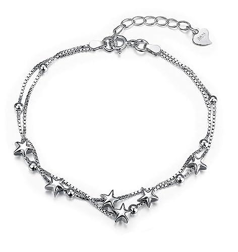 l'ultimo 58c3b 8d369 Borong Bracciali argento 925 donna stelle ragazze gioielli ...