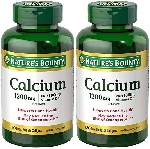 Natures Bounty Calcium Vitamin Softgels