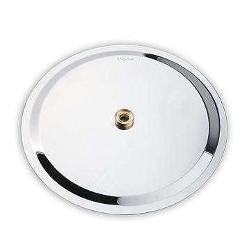 vinteky Extra grande de 30,48 cm para grifo mezclador termostático ducha cabeza fija redonda/cuadrada alta presión Ultra Thin 304 Acero inoxidable ducha de ...