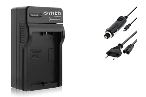 Cargador para Canon LP-E5 / EOS 450D, 500D, 1000D / Rebel T1i, XS, Xsi