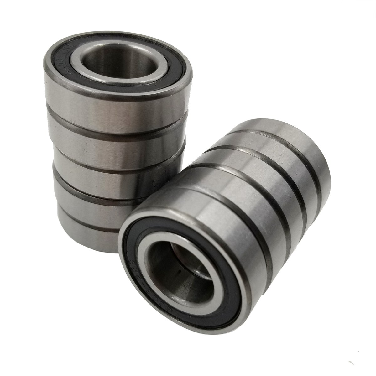 Double Seal and Pre-Lubricated M-Jump 10 PCS 6003-2RS Bearings,Stable Performance and Cost-Effective Deep Groove Ball Bearings,17x35x10mm