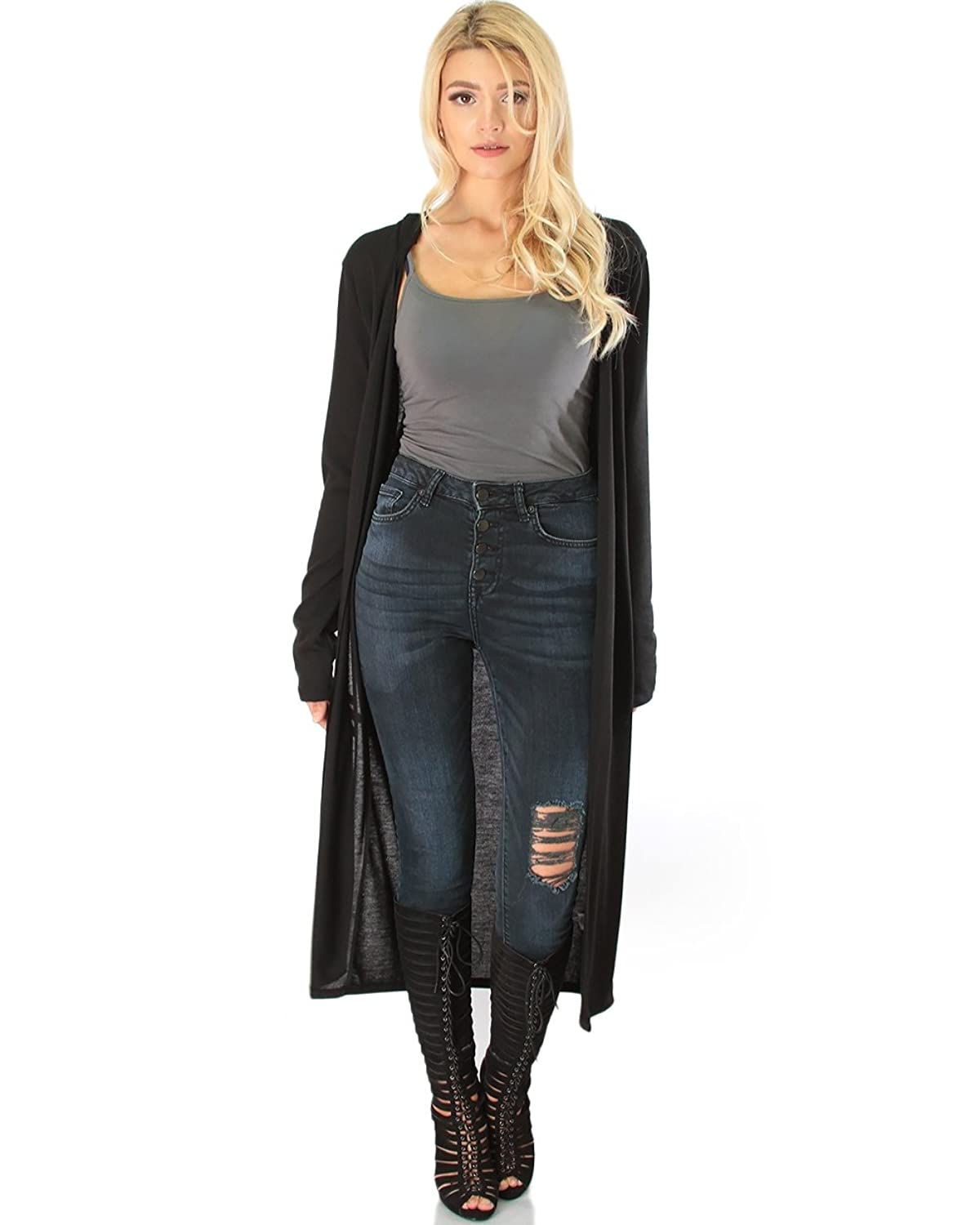Lyss Loo Long Line Hooded Cardigan at Amazon Women's Clothing store: