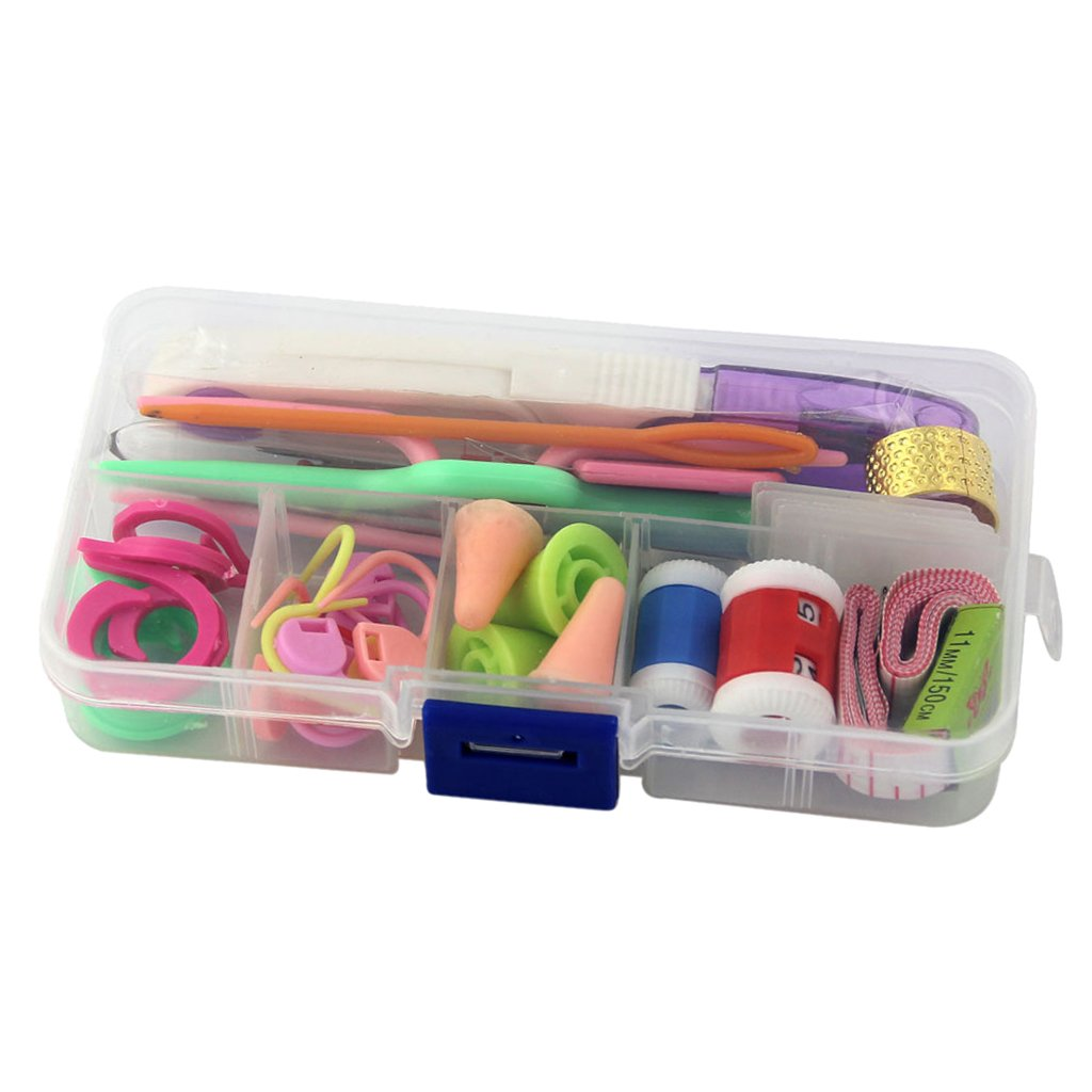37Pcs Basic Knitting Tools Accessories Supplies With Small Case Knit Kit Lots Set Generic STK0155001473