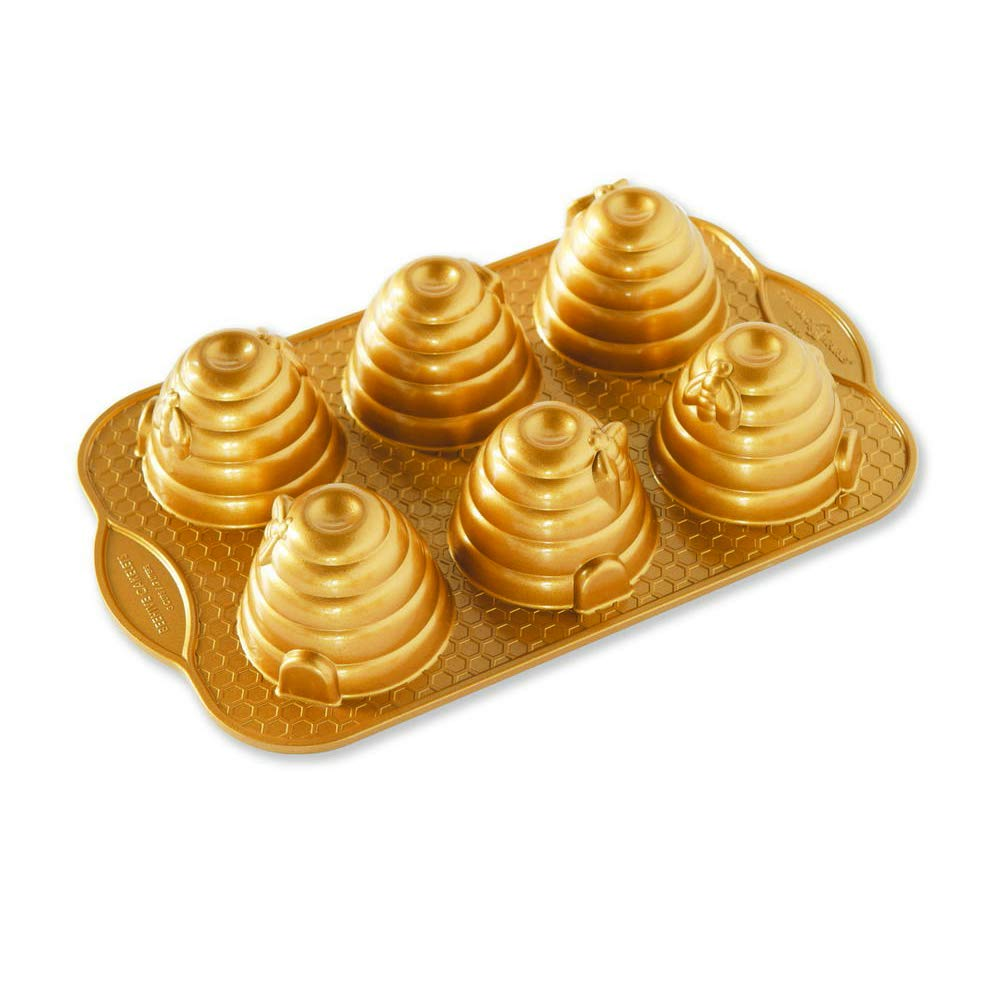 Nordic Ware 90777 Beehive Cakelets Pan, One, Gold by Nordic Ware