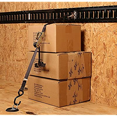 DC Cargo Mall 4 D Ring Tie-Downs with Plastic Pan Fittings, Anchor Trailer Cargo Load with Floor Flush Surface Mount D-Rings; Safe TieDown Working Limit 533 pounds: Automotive