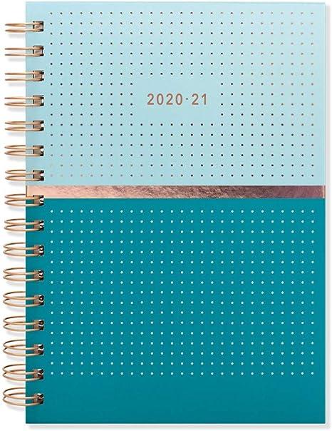 Matilda Myres 2020-21 Agenda semanal (tamaño A5) - Blue with ...