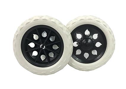 2 x calidad de repuesto ruedas de repuesto para carritos de compras y carros White &