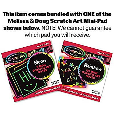 Melissa & Doug Add & Subtract Abacus & 1 Scratch Art Mini-Pad Bundle (09272): Toys & Games