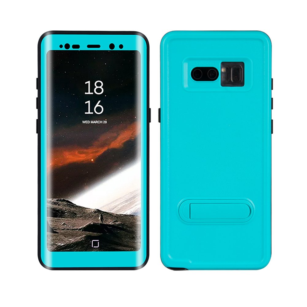 premium selection 2c3da fc55c Galaxy Note 8 Waterproof Case, Dooge Shockproof Dirtproof Snowproof Rain  Proof, Heavy Duty Full Protection Case Cover with Kickstand Rugged IP68 ...