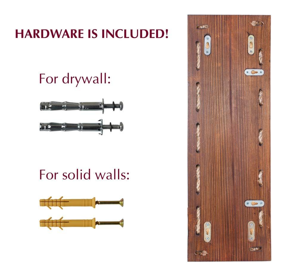 MyFancyCraft Handmade - Wood - Wine - Rack Natural Pine Decor Bottle - Holder Organizer Wall Mounted by MyFancyCraft