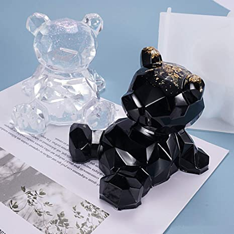 WHK 1 pc 3D Support de t/él/éphone Moule Ours Silicone r/ésine Moule Cristal Support de t/él/éphone Bougie Moule Savon Moule /à la Main Fabrication de Bijoux