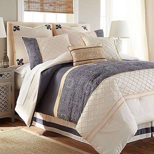 Lyra 8-Piece Modern Embroidered Down Alternative Comforter