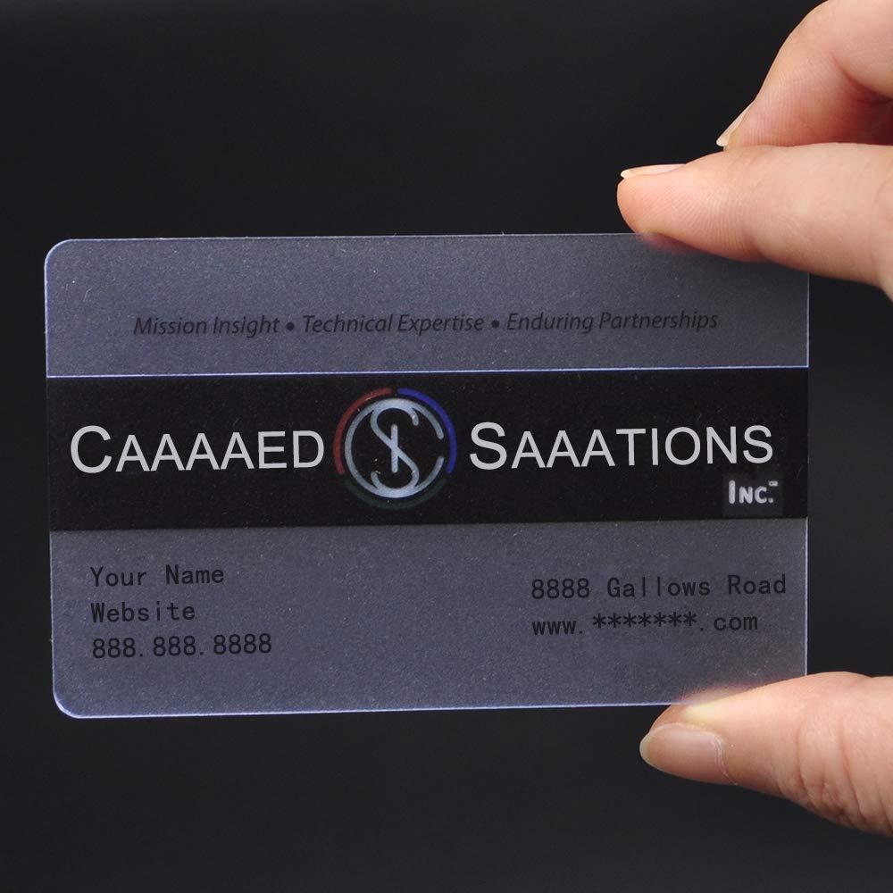 Custom 200 PCS gefrostetem Kunststoff Kunststoff Kunststoff Personalisieren Business Cards, Full Farbe gedruckt, 0,38 mm Stärke 500 PCS Frosted  0.38mm B07GBM6N5X   Neues Produkt    Haltbarkeit    Große Auswahl  5f99cd