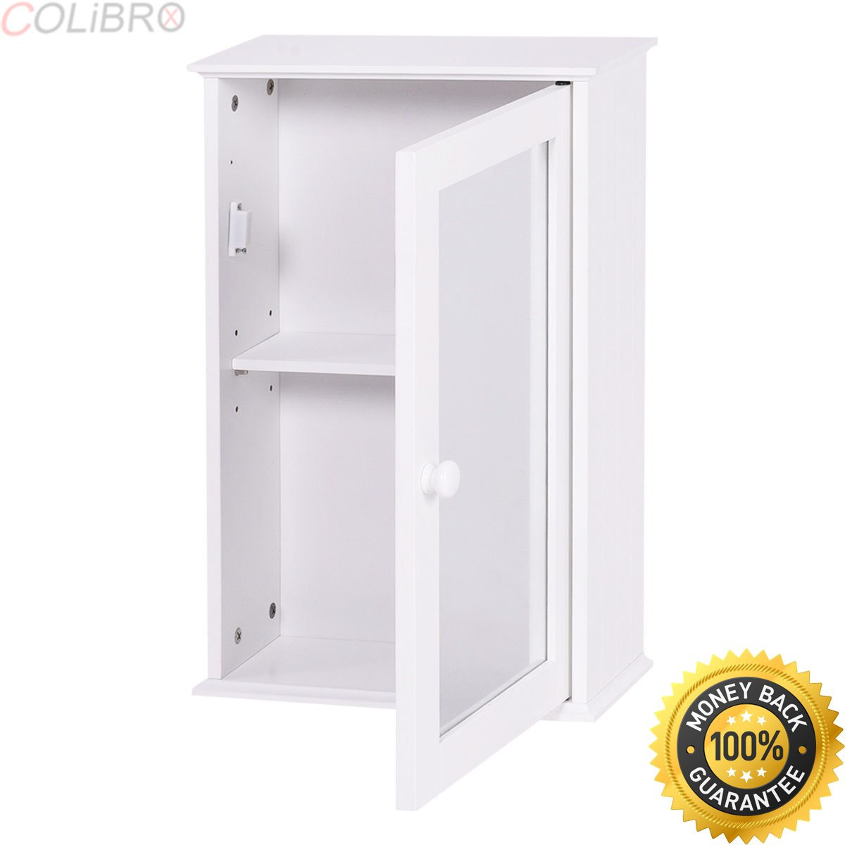 COLIBROX--New Bathroom Wall Cabinet Single Mirror Door Cupboard Storage Wood Shelf White. elegant home fashions neal 1 door medicine cabinet in white. best bathroom wall cabinets with mirror.